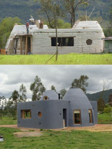 Casa em Terra Ensacada (Super Adobe) Foto:Jose Andre Vallejo